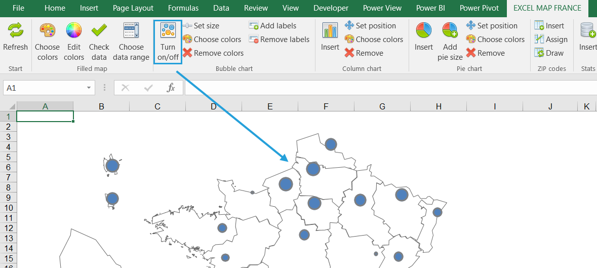 How To Show 2 Measures On The Map Maps For Excel Simple Excel