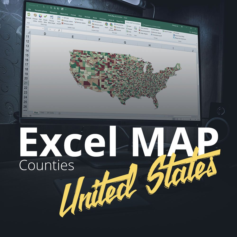 Excel Map United States Counties