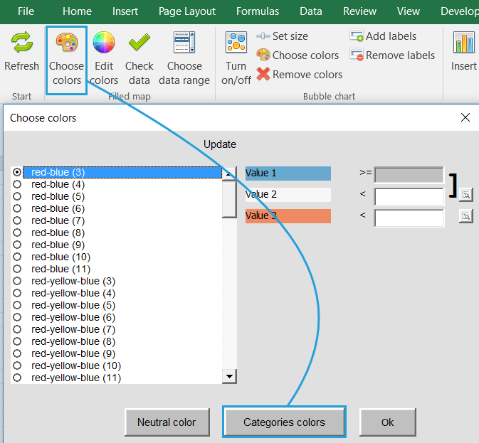 How to build your own regions & areas? - Example for Excel ... Zip Code Map Excel on excel time zone map, excel home page, excel roadmap, excel zip code list, excel state map,