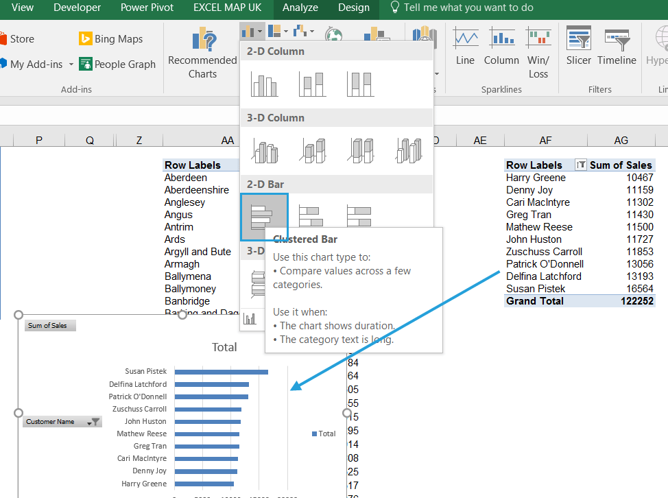 How to create an interactive Excel dashboard with slicers