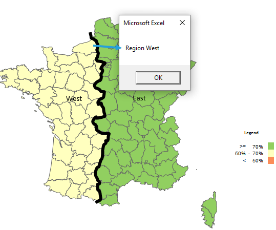 How to change the shape labels? – Example for Excel Map France