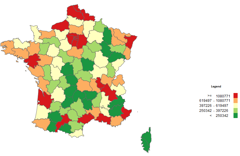 Map Of France 1500.How To Classify Your Data On A Filled Map Choropleth Map