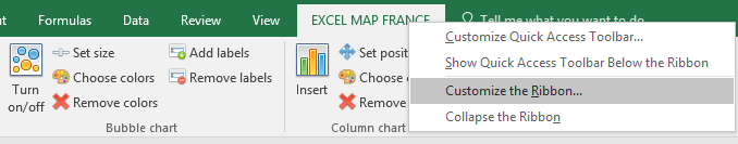 How to drill down on Excel Map France? - Maps for Excel - Simple