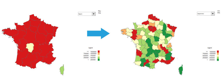 Map Of France France.How To Drill Down On Excel Map France Maps For Excel Simple