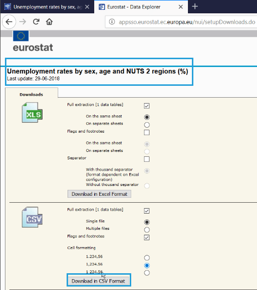 How to create a statistics map for Europe NUTS levels 0-1-2