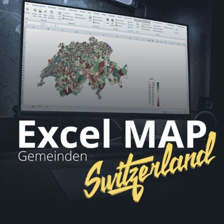 Excel Map Switzerland Gemeinden