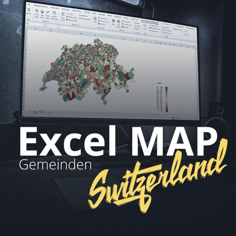 Excel Map Switzerland Gemeinden